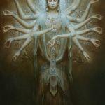 Индийские богини в картинах 1